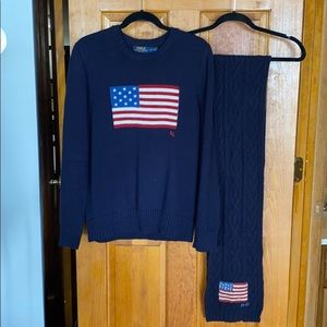 Polo sweater and scarf